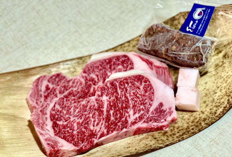神戸牛 超熟成ステーキ2枚&自家製ローストビーフ